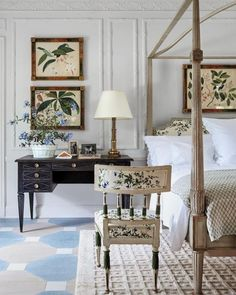 All Things Timeless: Chintz   Tory Burch bedroom