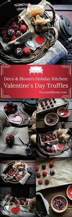 Deco & Bloom's Holiday Kitchen: Valentine's Day Truffles from the Interior Design Discovery Community of www.DecoandBloom.com
