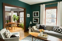 Below are the Mid Century Living Room Decor Ideas. This post about Mid Century Living Room Decor Ideas was posted Teal Living Rooms, Living Room Green, Home Living Room, Apartment Living, Living Room Designs, Living Room Decor, Apartment Therapy, Green Apartment, Apartment Furniture