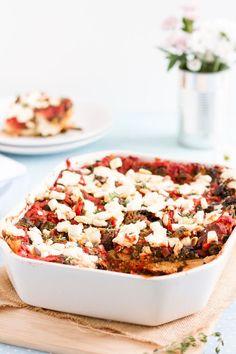 haseimglueck.de Rezept, Spinat Tomaten Feta Lasagne 7
