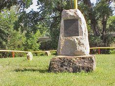Cheyenne Indian Raid Gravesite - Victoria Kansas.    Gravesite of six railroad workers killed by Cheyenne Indians on August 1, 1867