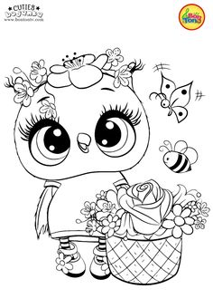 Cuties Coloring Pages for Kids - Free Preschool Printables - Slatkice Bojanke - Cute Animal Coloring Books by BonTon TV Free Kids Coloring Pages, Free Halloween Coloring Pages, Free Printable Coloring Sheets, Unicorn Coloring Pages, Adult Coloring Book Pages, Disney Coloring Pages, Animal Coloring Pages, Colouring Pages, Coloring Pages For Kids