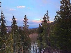 Alberta Falls sunset, Rocky Mountain National Park