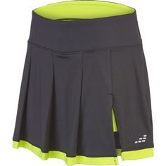 white lycra a line tennis skirt without shorts