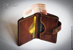 """Купить Мини кошелёк """"Коричневый винтаж"""" - кошелек из кожи, кожаный кошелек, кошелек женский"""