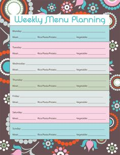 Make Your Life Organized: Menu Planner Page & Link Party