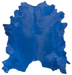 Cobalt blue cowhide, one of many hues of blues #cowhide #blue