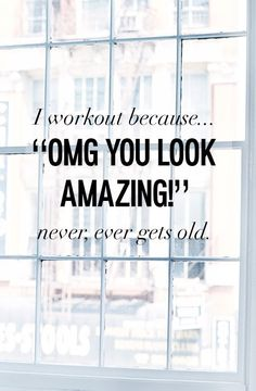 """OMG you look amazing"" is our new favorite workout quote. No surprise, shopping is our favorite fitness cool down."