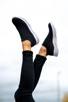 Say goodbye to wet socks and clunky rain boots. Don't compromise style for functionality, enjoy the best of both worlds with Vessi waterproof sneakers. Waterproof Sneakers, Knit Shoes, Marine Blue, All Black, Rain Boots, Shoes Sneakers, Footwear, Slip On, Fashion Styles