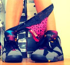 Love the color of these shoes!!    Jordan retro 7