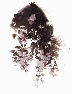 Beautiful, Double-Exposure Shots That Blend Images Of Women And Flowers - DesignTAXI.com