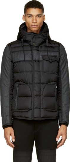 Moncler: Black Quilted Down Ryan Jacket | SSENSE