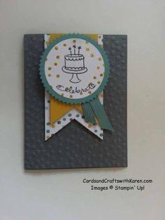Karen Thomas: Cards and Crafts with Karen  – Endless Birthday Wishes Walt! - 6/6/14