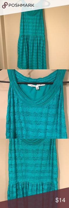 Green lace dress Beautiful Max Studio dress. Worn but good condition, just general wear. No stains. Max Studio Dresses Midi