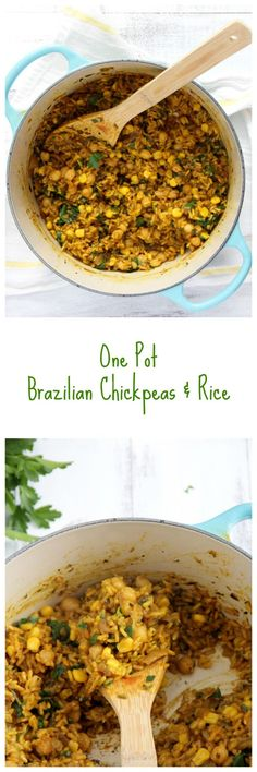Brazilian Chickpeas and Rice
