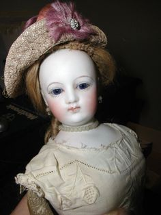 Antique French Fashion Doll by Barrios wearing Antique outfit in Dolls & Bears, Dolls, Antique (Pre-1930), Bisque, French | eBay