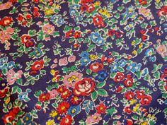 Liberty tana lawn fabric  Tatum F blue floral fabric by sewsewnsew