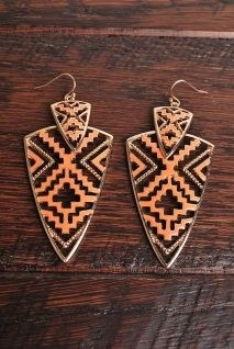 El Azteca Earrings | Peacock Plume