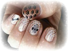 Nail stamping art using CC Cosmic Fate - Apr 3/13