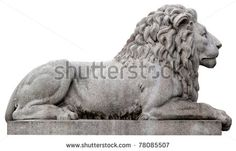 Stone lion from Oslo, Norway. ( The statue is situated in front of Norwegian parliament ).