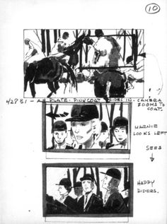 """Storyboard, Alfred Hitchcock's """"Marnie,"""" 1964"""