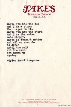 Typewriter Series #642byTyler Knott Gregson