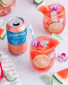 Keep it Colorful with Seagram's Escapes and our extensive line of flavorful beverages. Beverages, Drinks, Sparklers, Moscow Mule Mugs, Grapefruit, Create Yourself, Shots, Cocktails, Tropical