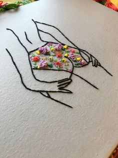 Creative Writing 47428602313405442 - Embroidered Thread Painting Embroidered picture 1950 VintageSeascape Beach Hoop Art hand embroidered art Embroidered picture Needle painting Source by joliesphotosM Embroidery Flowers Pattern, Simple Embroidery, Embroidery Patterns Free, Hand Embroidery Stitches, Embroidery Hoop Art, Hand Embroidery Designs, Hand Stitching, Hungarian Embroidery, Embroidery Sampler