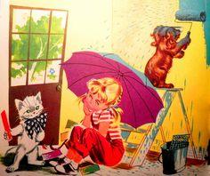 "Pouf,Caroline and Youpi / La Maison de Caroline / Pierre Probst's ""Caroline"" Series."