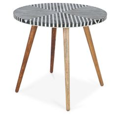 Casa Uno Bone Inlay Mango Wood Danish Coffee Table. We love Monochrome. The monochrome bone inlay top is a quirky addition to any home. It's complete with slightly tapered mango wood legs.  Features:  Hand crafted in India  Ethically sourced bone
