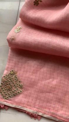 New Saree Designs, Blouse Designs, Gota Patti Saree, Saree Dress, Indian Outfits, Embroidery, Bridal, Sarees, Fabric
