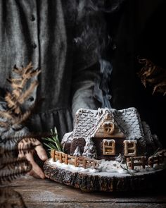 lemon glazed lavender and lemon shortbread cookies - twigg studios Tree Stump Cake, Lemon Shortbread Cookies, Lavender And Lemon, Christmas Gingerbread House, Gingerbread Houses, Log Cake, Irish Cottage, Stuffed Mushroom Caps, Enchanted Home