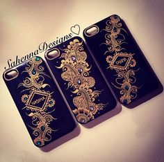 Bespoke henna design phone cases: available for a wide range of smartphones ☺️