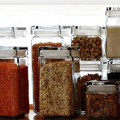Glass food storage f