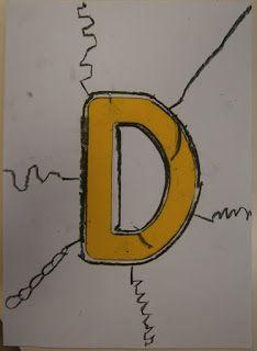 Hemos querido hacerle un homenaje a la letra inicial de nuestro nombre en una de nuestras sesiones del taller de grafismo. Para ello co...