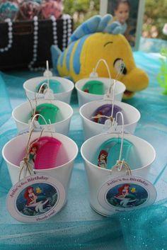 Favors at a Mermaid Party #mermaid #partyfavors