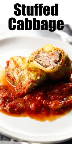 Stuffed cabbage is a staple in eastern european food. Also known as galumpki or golabki, I'm drawing on my polish roots for this recipe. While Pierogi and Kielbasa were the most common polish foods in our house, Polish Stuffed Cabbage was a treat that we all enjoyed. The cabbage is stuffed with a mixture of ground meat and rice, then baked in a red tomato sauce until flavorful and delicious. Original seen on my other website, the brooklyn cook