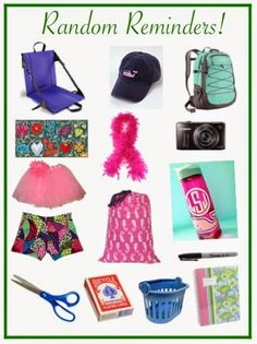 A great list of items needed for sleepaway camp from Preppy by the Sea.