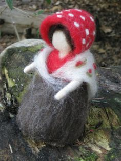 Mushroom Mother.The Woolen Gnome by thewoolengnome on Etsy