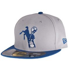 NFL New Era 59Fifty Indianapolis Colts Fitted Hat Size 6 7 8 Retro Horse  Logo 6af81df75