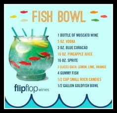 1000 ideas about fish bowl punch on pinterest punch for Fish bowl punch