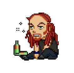 Metalocalypse, Am In Love, Animation Series, Pixel Art, Cool Stuff, Fanart, Cartoon, Embroidery, Rock