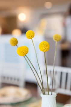#billy-ball, #flowers, #yellow  Photography: Maya Myers Photography - mayamyers.com  Read More: http://www.stylemepretty.com/living/2014/01/06/smp-living-graphic-print-inspired-baby-shower/