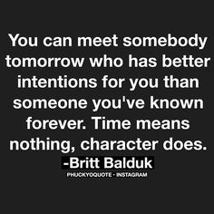 it's all about character