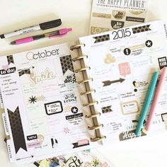 #REGRAM from @interrobangdesigns // Vanessa has her October monthly spread hooked up with mambi goodies and ready to go! #TheHappyPlanner by @meandmybigideas