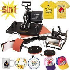 RACPLUS 5 in1 T-shirt Heat Press Machine Transfer Sublima...