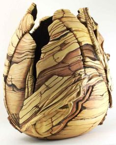 Canyonlands / Gourd Art by Phyllis Sicles - Carved with added cloth dipped in Powertex and painted with acrylics.