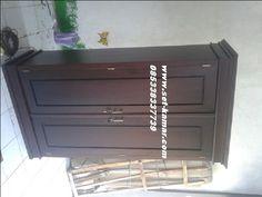 Lemari Pakaian 2 Pintu dengan Model Minimalis berbahan baku Kayu Jati produck Furniture Jepara denga Harga Murah Terbaru 2016 Lemari Baju 2 Pintu Minimalis
