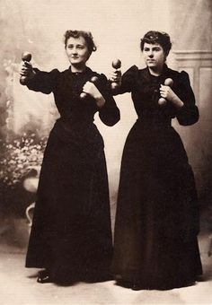 PERSONAL CARE: Women exercising, c. 1910 by Willis T. White.