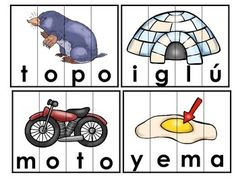 by Mrs G Dual Language Spanish Worksheets, Spanish Words, Pre Kindergarten, Word Puzzles, Dual Language, Syllable, Word Work, Learning Spanish, Vocabulary
